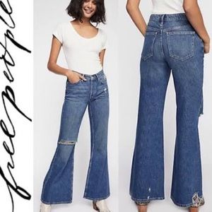 Free People || Relaxed Heritage Flare Jeans